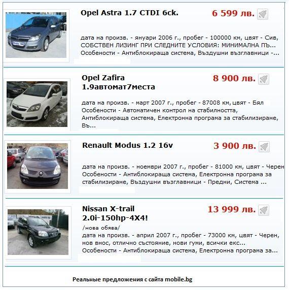 продажа автомобиля в Болгарии